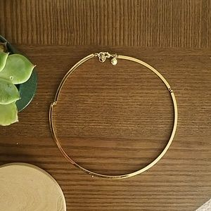 J Crew gold tone hinged necklace